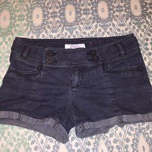 💋3/$15 Super Stretch Button Waist Jean Shorts